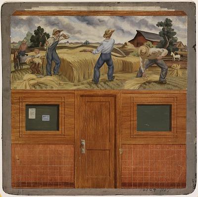 Harvest (mural study, Alma, Michigan Post Office)