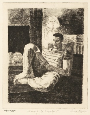 Reading by Lamplight