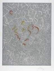 (Homage to Tobey, portfolio) Winter Leaves