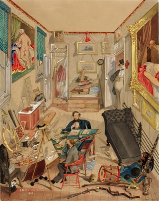 Self-Portrait in the Artist's Studio