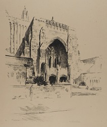 Entrance to Sterling Memorial Library, No. 1, from the Yale Series