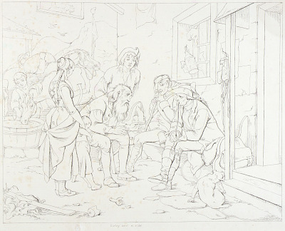 (Rip Van Winkle, illustration) Rip Telling His Fabulous Story