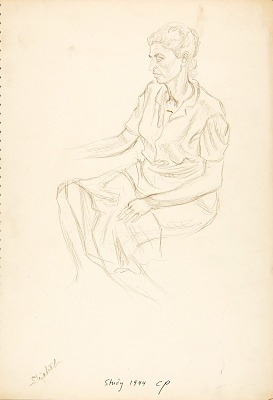Elizabeth Pollock (study for the mural at Michigan State University)