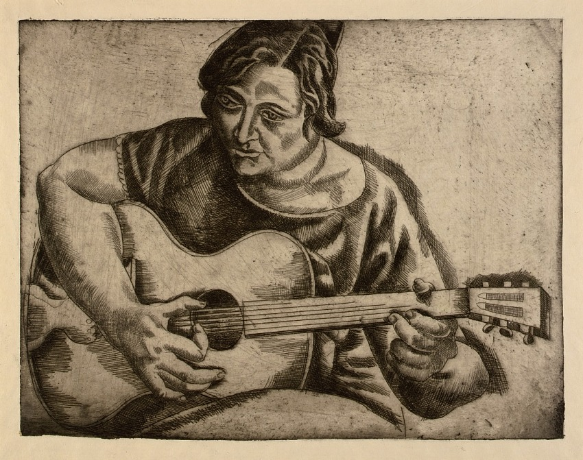 Untitled (Spanish Woman Playing Guitar)