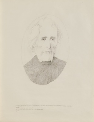 (Study for the Three Presidents from Tennessee) Drawing of Andrew Jackson for a Bas-relief Sculpture to Be Installed in the Federal District Courthouse, Nashville, Tennessee