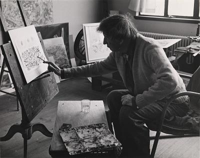 John Marin, in His Studio