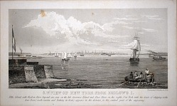 S.W., View of New York from Bedlow's I.