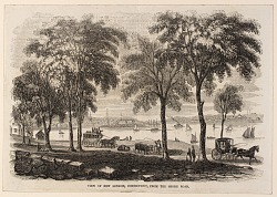 View of New London, Connecticut from the Shore Road