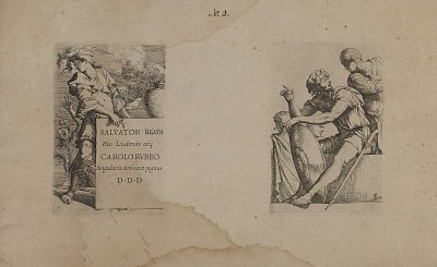 (Figurine Series) Frontispiece of Man Holding Sign
