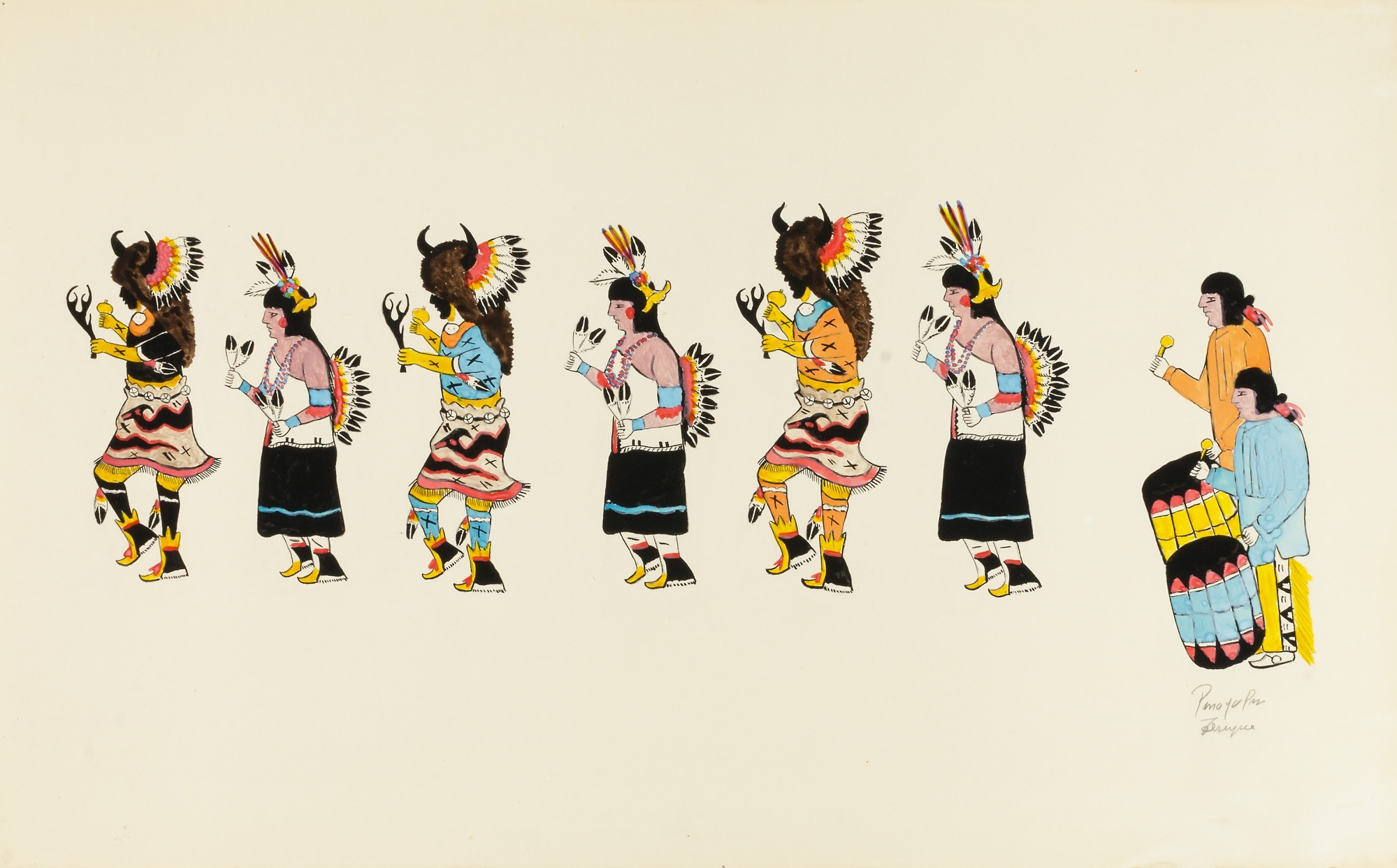 Image for Buffalo Dance-Six Dancers, Two Drummers