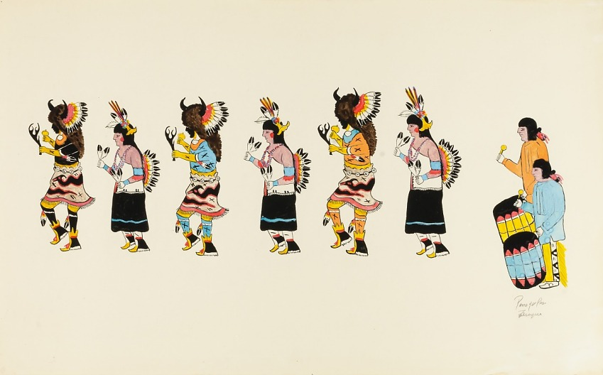 Buffalo Dance-Six Dancers, Two Drummers