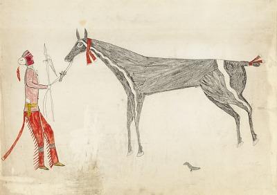 Plains Warrior with Captured Stallion