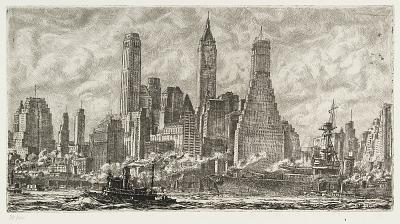 Skyline from Pier 10, Brooklyn