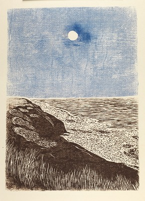 Seashore with Moon
