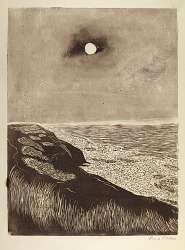 Seashore with Moon