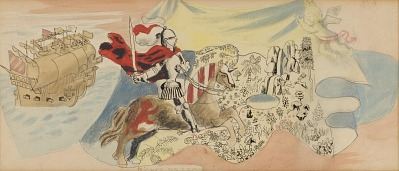 Juan Ponce de Leon (study for Tallahassee mural)