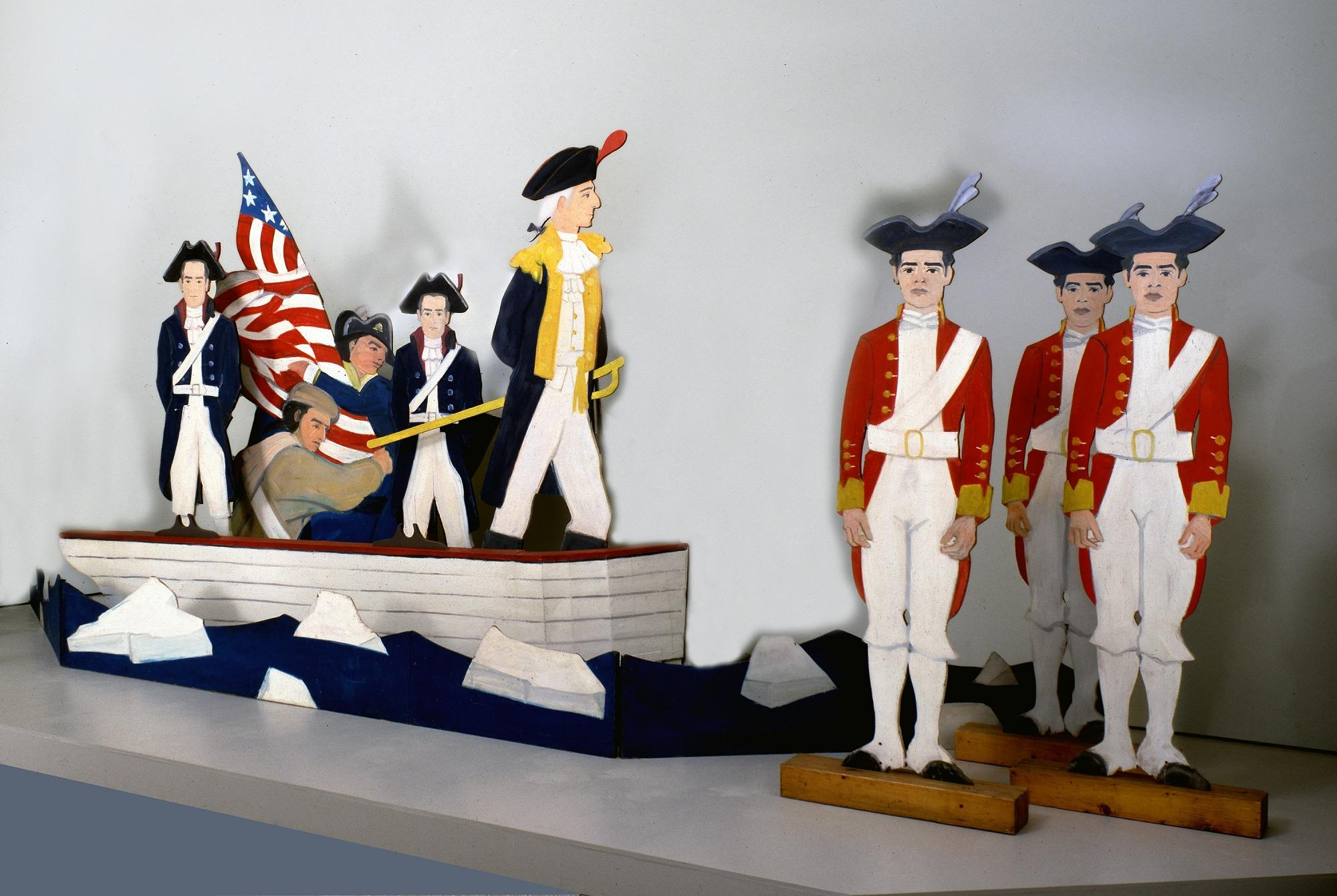 Washington Crossing the Delaware: American Revolutionary Soldier