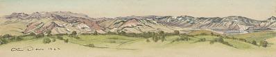 Mountain Range, Cody, Wyoming