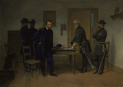 Lee Surrendering to Grant at Appomattox