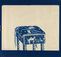 (From Blue Print series) #14, Cushion and Stool