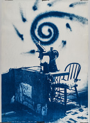 (From Blue Print series) #18, The Sewing Machine