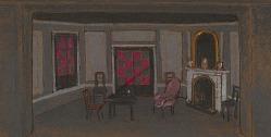 Alice's Living Room--False Proscenium (set design)