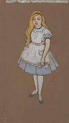 Alice (costume design for Alice-in-Wonderland, 1915)