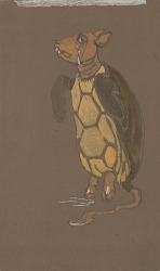 Mock Turtle (costume design for Alice-in-Wonderland, 1915)