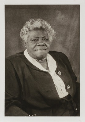Mary McLeod Bethune, from the unrealized portfolio