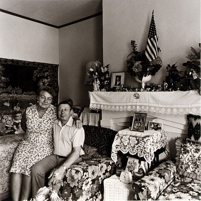 Vera and Michael Shashko in the Living Room of their Bank Street Home, from the East Baltimore Documentary Survey Project