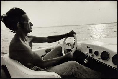Man Driving Jet Boat, Lake Barkeley, Lyon County, KY