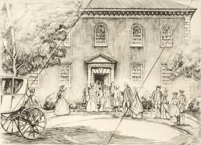 Washington at Pohick Church (cancelled plate from the portfolio