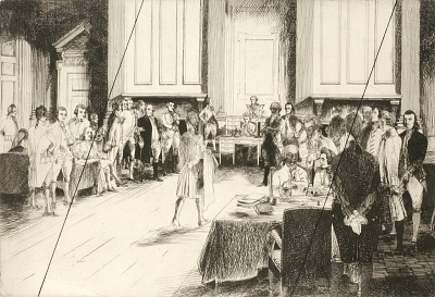 The Constitutional Convention (cancelled plate from the portfolio