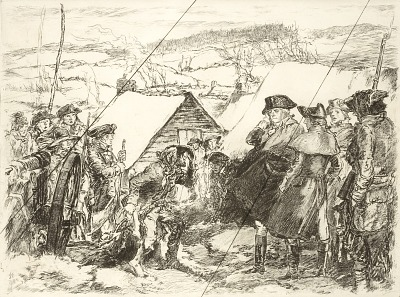 Washington at Valley Forge (cancelled plate from the portfolio