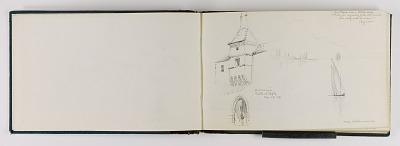 (Sketchbook) Doorway to Castle at Aigle/Near Villeneuve