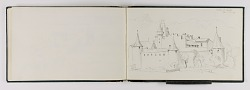 (Sketchbook) Castle at Aigle