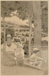 """Lusisti Satis""...Finally we found ourselves sitting silent on an upturned wheelbarrow,...etc."""