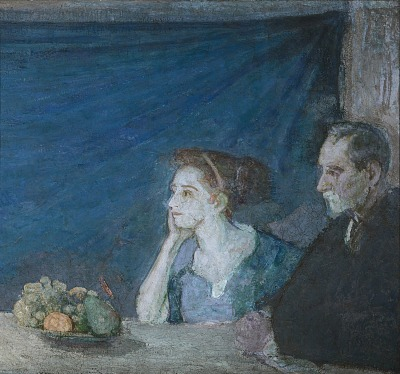 Portrait of Mr. and Mrs. Atherton Curtis with Still Life
