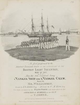 A Yankee Ship and a Yankee Crew (Sheet Music Cover)