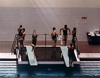 Divers Warming Up, U.S. Indoor Diving Championships, Indianapolis, from the series, Shooting for the Gold