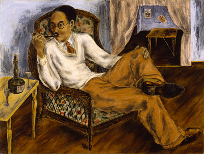 Portrait of Yasuo Kuniyoshi in His Studio