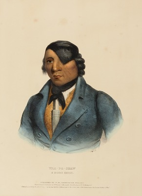 WAA-PA-SHAW. A SIOUX CHIEF, from History of the Indian Tribes of North America