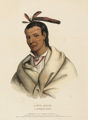 A-MIS-QUAM, A WINNEBAGO BRAVE., from History of Indian Tribes of North America