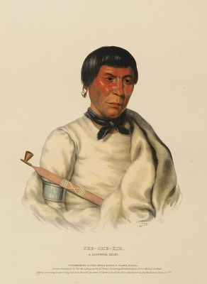 PEE-CHE-KIR, A CHIPPEWA CHIEF., from History of the Indian Tribes of North America
