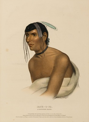 JACK-O-PA. A CHIPPEWA CHIEF., from History of the Indian Tribes of North America