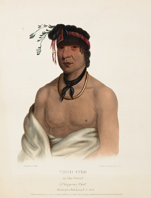 WESH-CUBB. A CHIPPEWAY CHIEF., From History of the Indian Tribes of North America