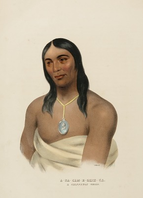 A-NA-CAM-E-GISH-CA. A CHIPPEWA CHIEF., from History of the Indian Tribes of North America
