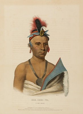 KEE-SHES-WA, A FOX CHIEF., from History of the Indian Tribes of North America