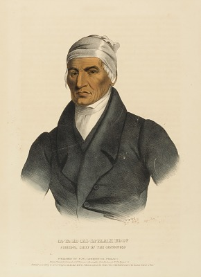 CA-TA-HE-CAS-SA-BLACK HOOF. PRINCIPAL CHIEF OF THE SHAWANOES., fromHistory of the Indian Tribes of North America