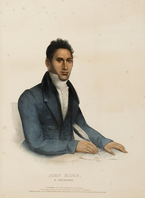 JOHN RIDGE, A CHEROKEE., from History of the Indian Tribes of North America